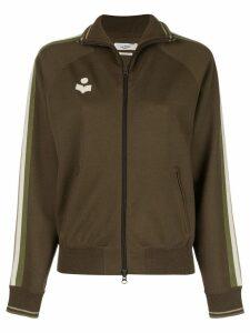 Isabel Marant Étoile zip front logo track jacket - Green