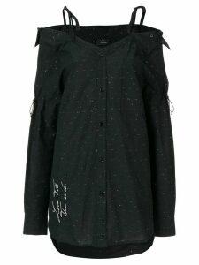 Marcelo Burlon County Of Milan Love T.T.E lurex dress - Black