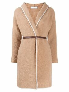 Fabiana Filippi hooded cardi-coat - Neutrals