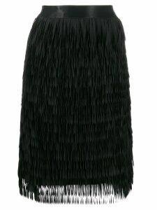 Steffen Schraut fringed skirt - Black