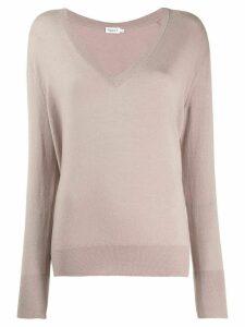 Filippa-K fine knit V-neck jumper - Neutrals