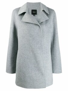Theory single breasted coat - Grey