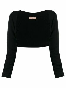 Twin-Set knitted logo charm bolero - Black