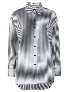 Acne Studios menswear-inspired striped shirt - Black