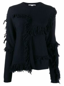 Stella McCartney fringed knitted jumper - Blue