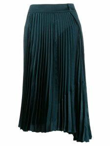 Vince satin pleated skirt - Green
