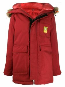 Brumal hooded down coat - Red