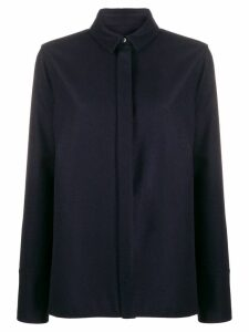 Jil Sander concealed button shirt - Blue
