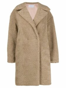 Harris Wharf London shearling coat - NEUTRALS
