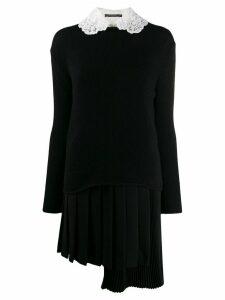 Ermanno Scervino asymmetric hem knit dress - Black
