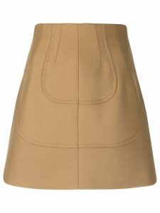 Nº21 panelled a-line skirt - Neutrals