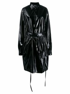 Barbara Bologna belted single-breasted coat - Black