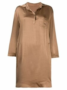 Raquel Allegra relaxed shirt dress - Brown