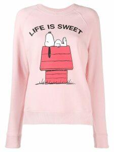Chinti & Parker Snoopy print Jumper - Pink