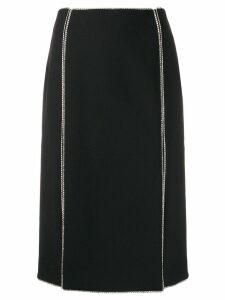 AREA crystal trim skirt - Black