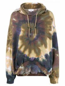 Collina Strada tie-dye hoodie - Brown