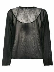 Fabiana Filippi lace-panel blouse - Black