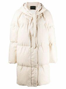 Erika Cavallini padded parka coat - Neutrals