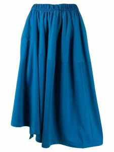 Y-3 asymmetric skirt - Blue