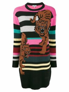 Kenzo double tiger sweater dress - Brown