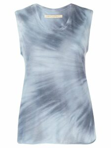 Raquel Allegra fitted muscle top - Blue
