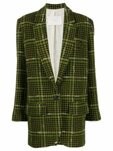 Tela houndstooth fitted blazer - Green