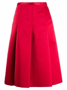 Nº21 A-line pleated skirt - Red