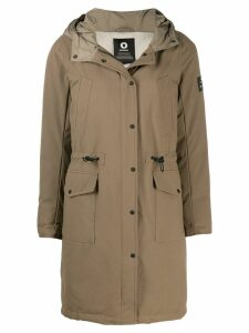 Ecoalf hooded parka coat - Brown