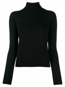 Aragona rollneck cashmere sweater - Black