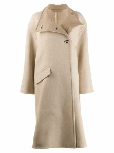 Acne Studios A-line wrap coat - Neutrals