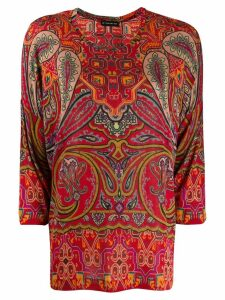 Etro paisley print top - Red