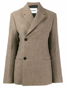 Jil Sander off-centre fastening blazer - Brown