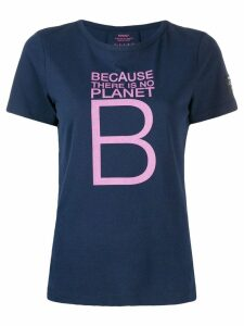 Ecoalf slogan print T-shirt - Blue