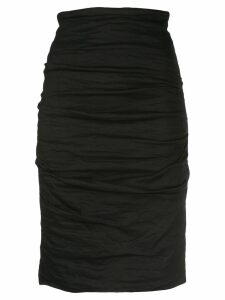 Nicole Miller Sandy ruched skirt - Black