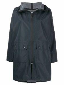 Ecoalf zipped hooded coat - Grey