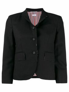 Thom Browne exposed seam blazer - Black