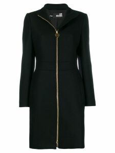 Love Moschino zipped wool midi coat - Black