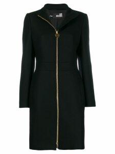 Love Moschino zipped wool midi coat - Black
