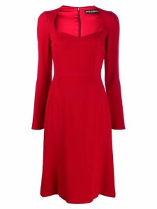 Dolce & Gabbana V-neck midi dress - Red