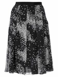 Giambattista Valli geometric print pleated skirt - Black