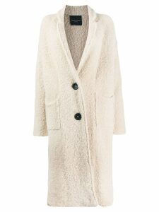 Roberto Collina shearling coat - White