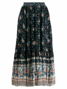 Ulla Johnson printed midi skirt - Black