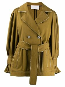 Peter Pilotto tie waist short coat - Green