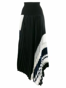 3.1 Phillip Lim knitted waistband pleated skirt - Black