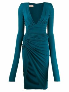 Alexandre Vauthier plunge fitted dress - Blue