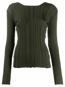 Courrèges ribbed sweater - Green