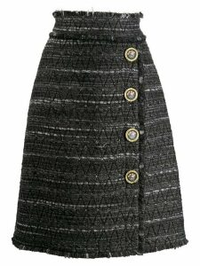 Dolce & Gabbana striped pencil skirt - Grey