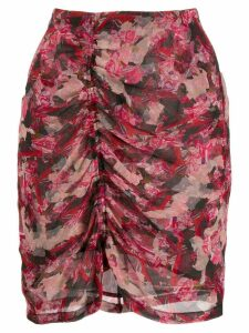 Iro ruched floral skirt - Pink