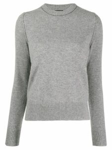 Joseph crewneck panelled jumper - Grey