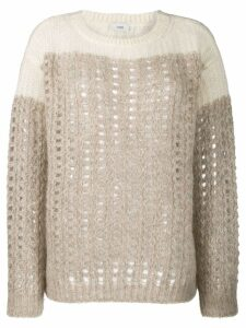 Closed chunky knit jumper - Brown